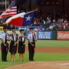 Wylie East JROTC presents Colors at Rangers game