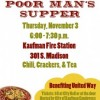 Poor Man's Supper to benefit United Way