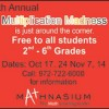 Free Multiplication Madness events at Mathnasium of Rockwall-Heath
