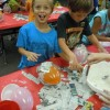 Springer second graders have the world in their hands