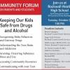 Community Forum for parents, students Oct 21