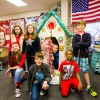 Students create giant gingerbread house for nursing home residents