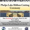 Phelps Lake ribbon cutting festivities rescheduled