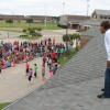 Pullen principal spends four hours on school roof