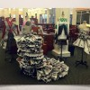 Heath fashion students design dresses out of newspaper