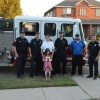 Rockwall family receives Domino's pizza via fire truck
