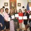 Rock Wall Chapter Daughters of the American Revolution present awards at Spring Tea