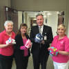 Rockwall Soroptimist donates nearly 100 handmade hats to hospital for hair loss