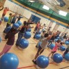 Cullins-Lake Pointe students get fit with drum sticks and yoga balls