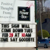 UPDATE on Rockwall icon: 'Positive Thoughts' sign on Goliad coming down?