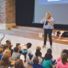 Acclaimed children's author visits Lynda Lyon Elementary