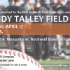 Rockwall ISD to hold Dedication Ceremony for Randy Talley Field Wednesday