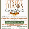 'Give Thanks Together' is theme as Rest Haven begins community-wide Thanksgiving food drive