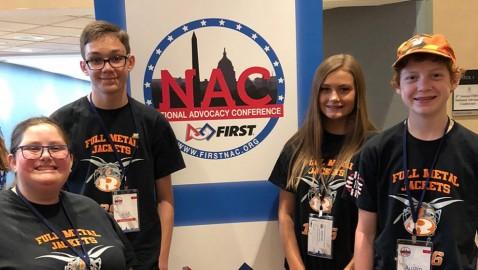 Rockwall High Robotics Advocates for STEM Funding in Washington, DC