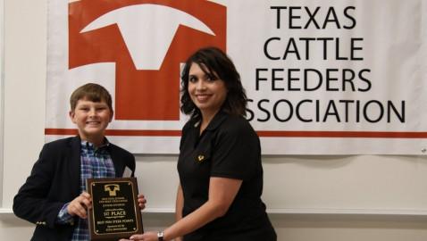 Rockwall Student Wins Awards at 2019 TCFA Junior Fed Beef Challenge
