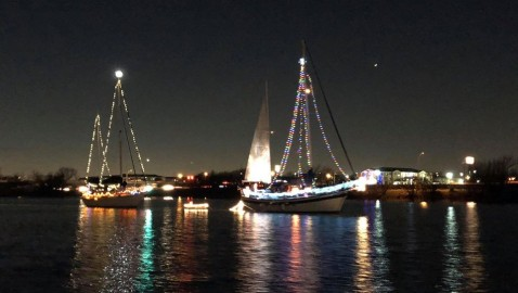 Christmas Light Boat Parade on Lake Ray Hubbard Dec 14