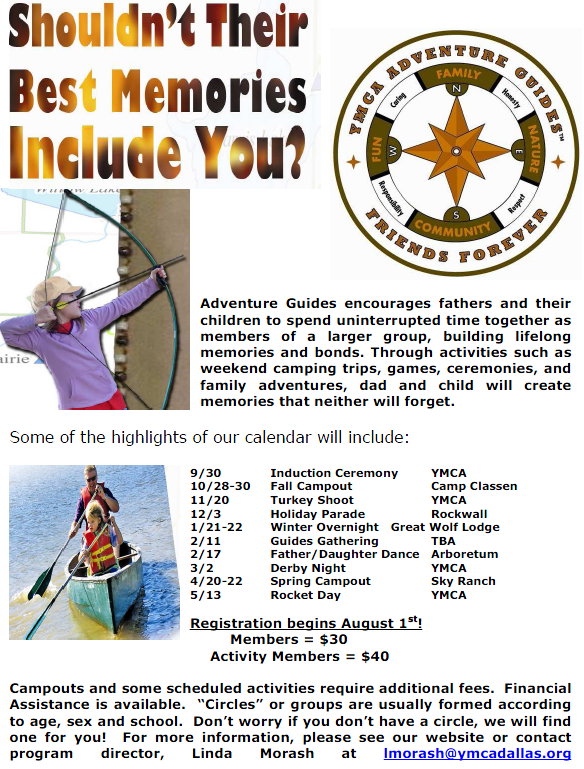 YMCA Adventure Guides brings dads, kids together