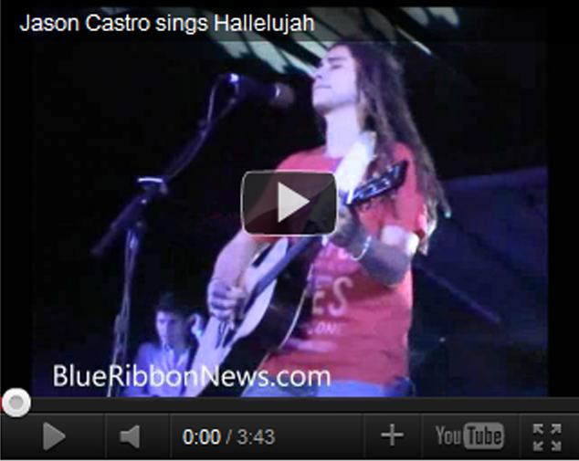 Jason Castro sings 'Hallelujah' at QueFest (video)
