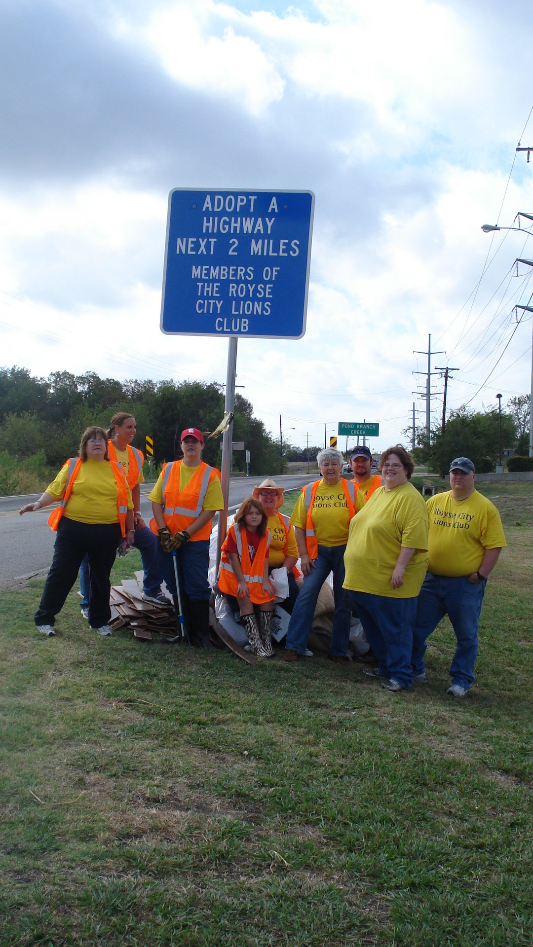 Lions Club cleans up 2 mile stretch of Hwy 548