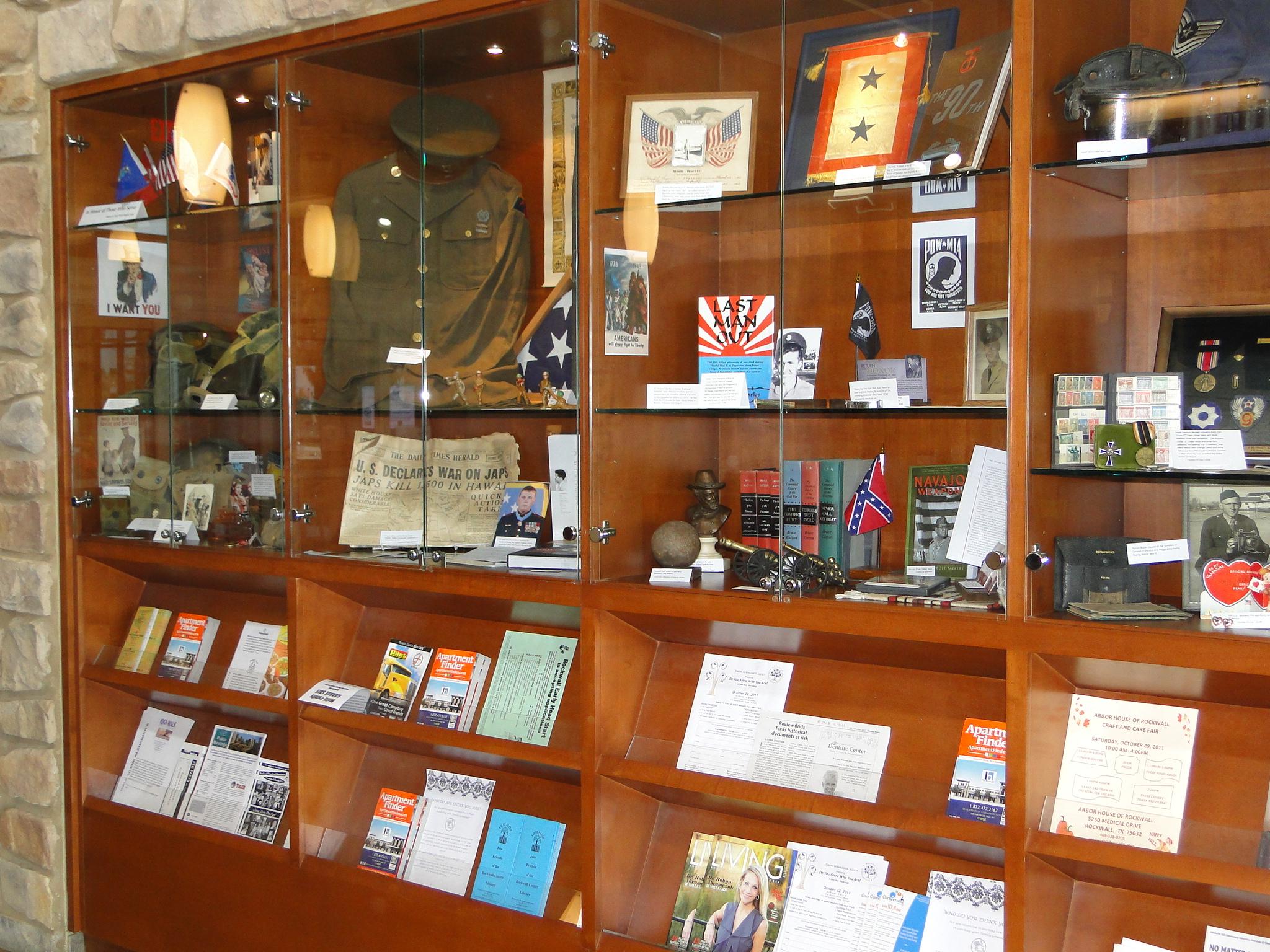 War memorabilia on display, veterans honored