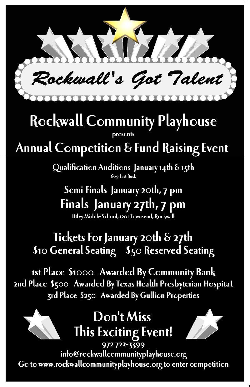 'Rockwall's Got Talent' finals Friday, Jan. 27