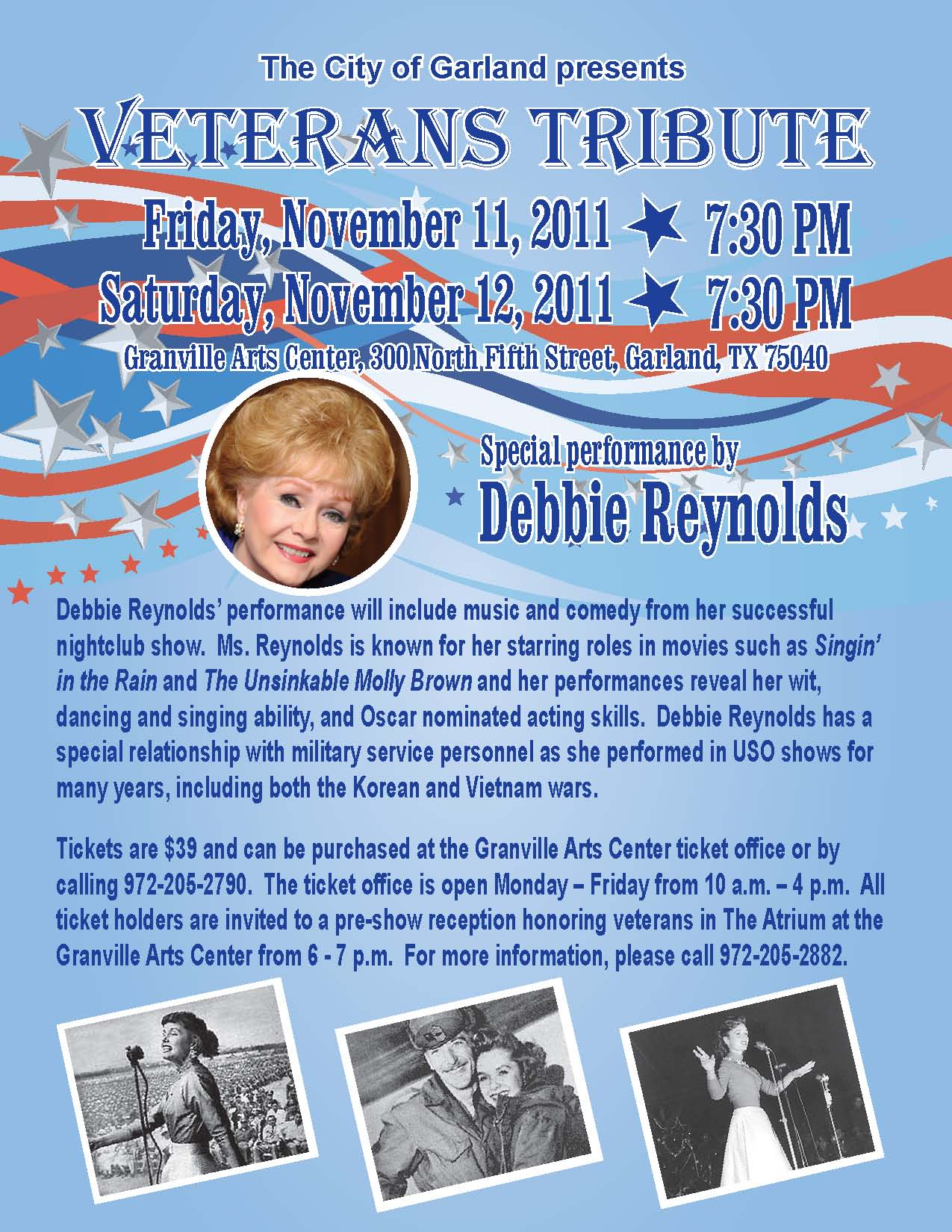 Tribute honors WWII vets, features Debbie Reynolds