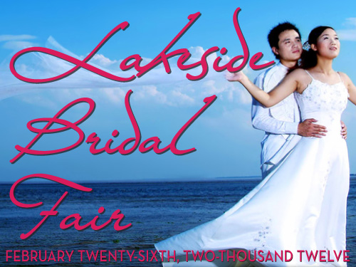 Lakeside Bridal Fair free with canned food donations