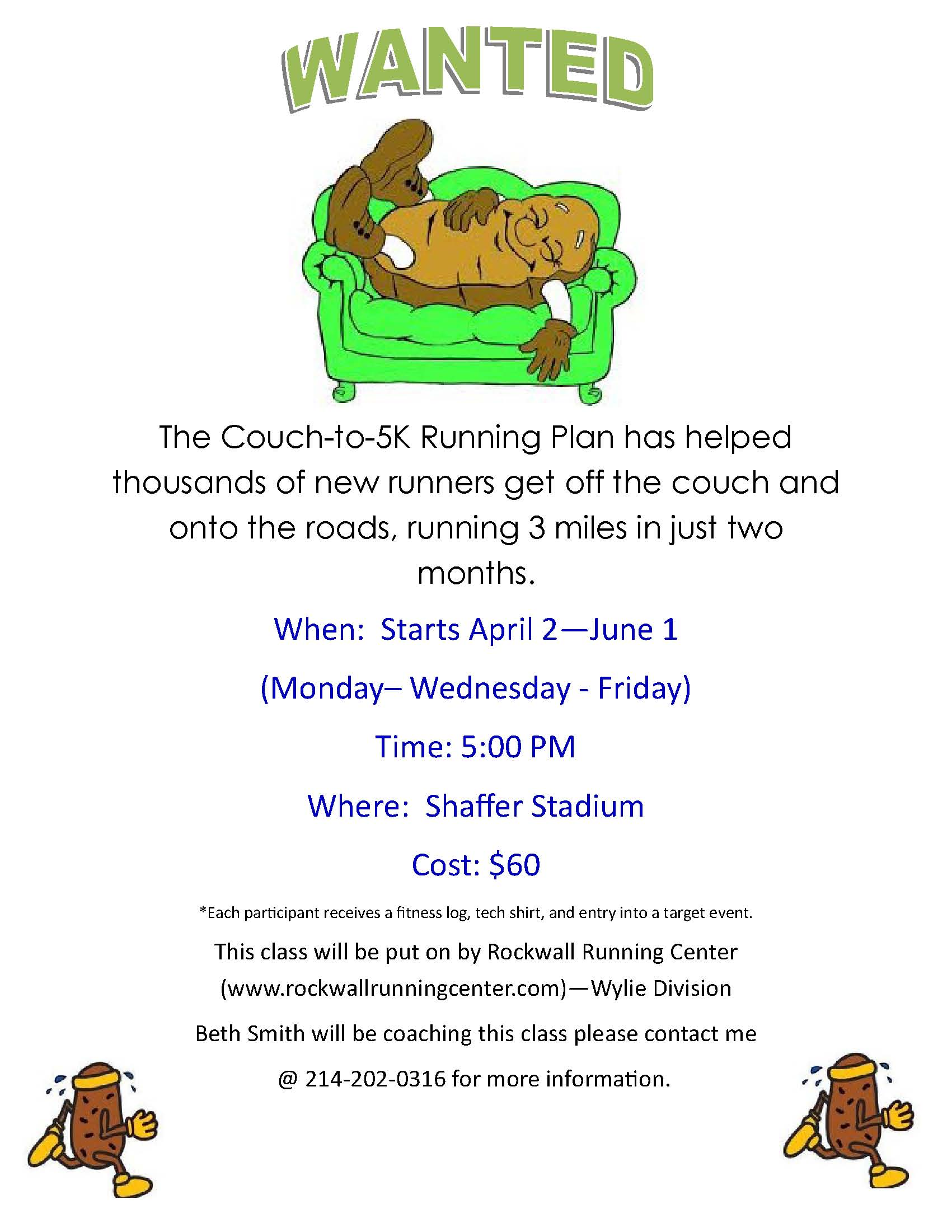 Couch to 5K training program offered at discount to Wylie ISD