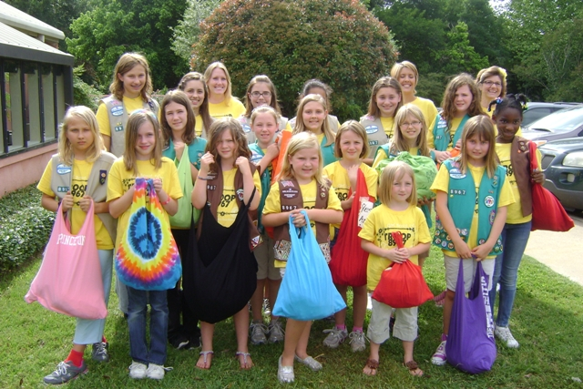 Local Girl Scouts go green