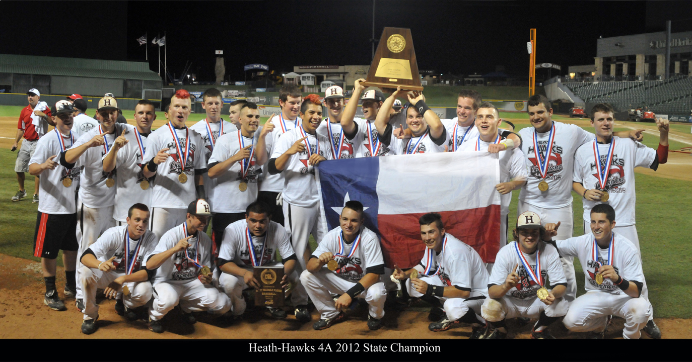 Celebrate with the State Champion Heath Hawks
