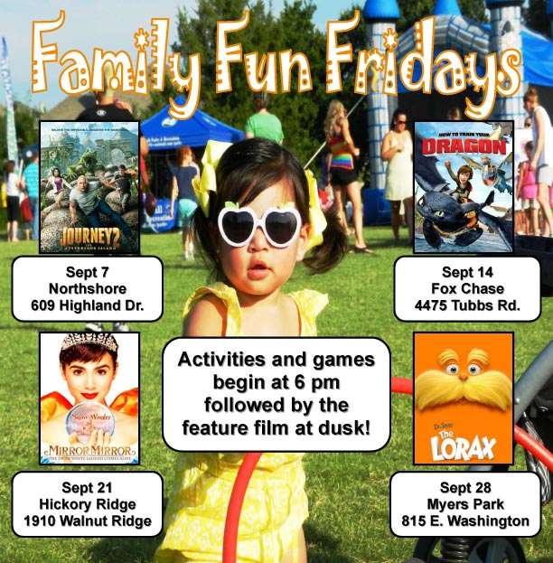 Family Fun Fridays feature games, movies at dusk
