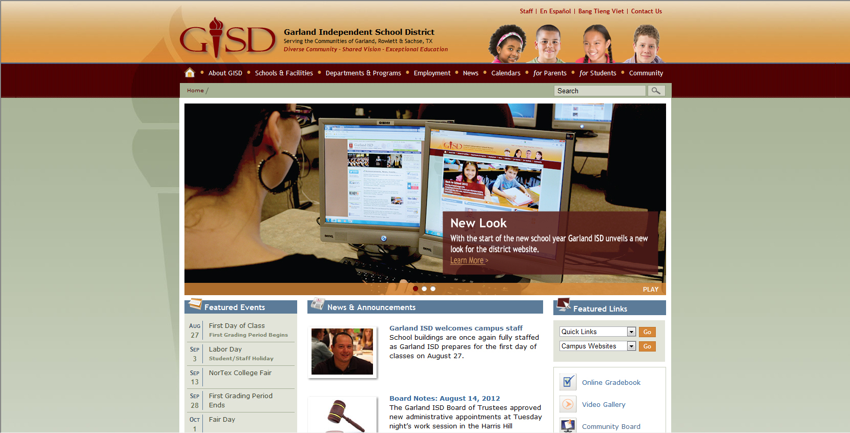 Garland ISD launches redesigned website