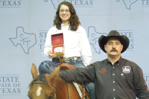 Local freshman earns championship buckle at State Fair
