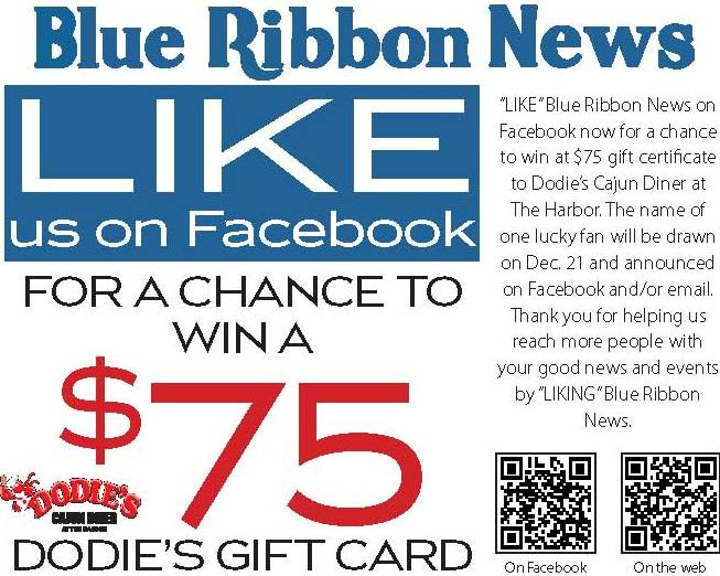 We've got good news: Blue Ribbon News goes to print!