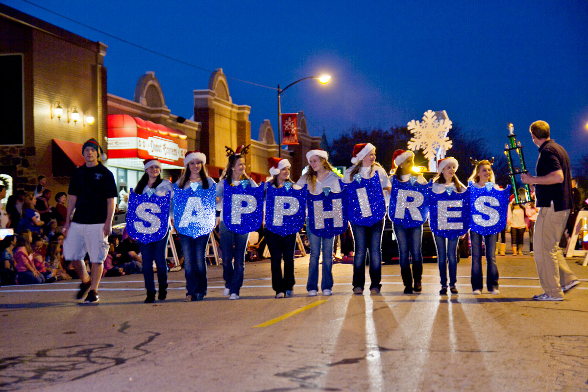 Wylie East Sapphires march in Children's Holiday Parade, take second place in Wylie Christmas parade