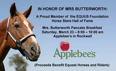 Pancake breakfast to honor Equest's miracle mare, Mrs. B