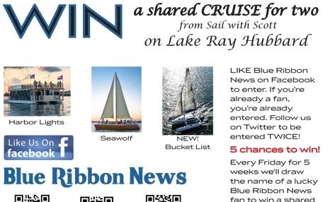 Win 'Sail with Scott' cruise on Lake Ray Hubbard