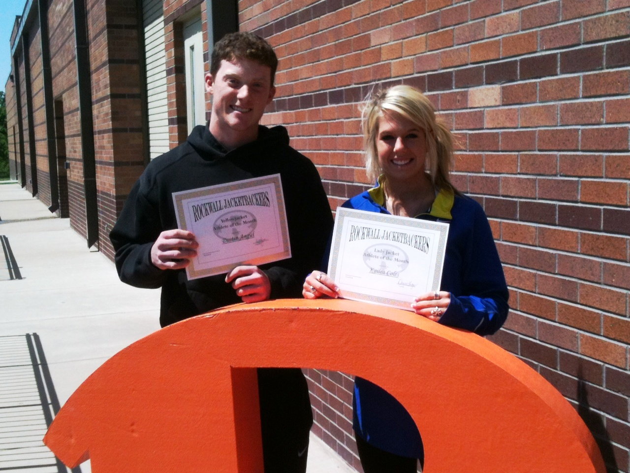 Rockwall High Athletes of the Month recognized