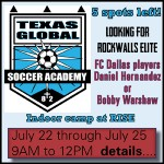 Texas Global Soccer Academy indoor soccer camp at RISE Rockwall