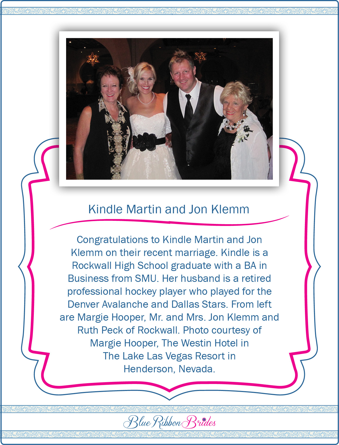 Blue-Ribbon-Brides kindle martin and Jon Klemm
