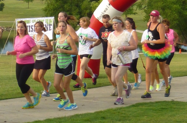 Zombie Glow runners race to support Rockwall Community Playhouse