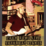 Zach Romo singer song writer at Dodie's Cajun Diner at The Harbor