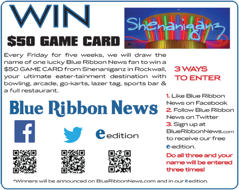 Blue Ribbon News, Shenaniganz team up for weekly giveaways