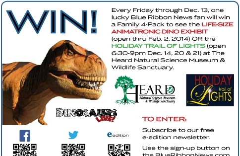 Enter our Blue Ribbon News weekly drawing