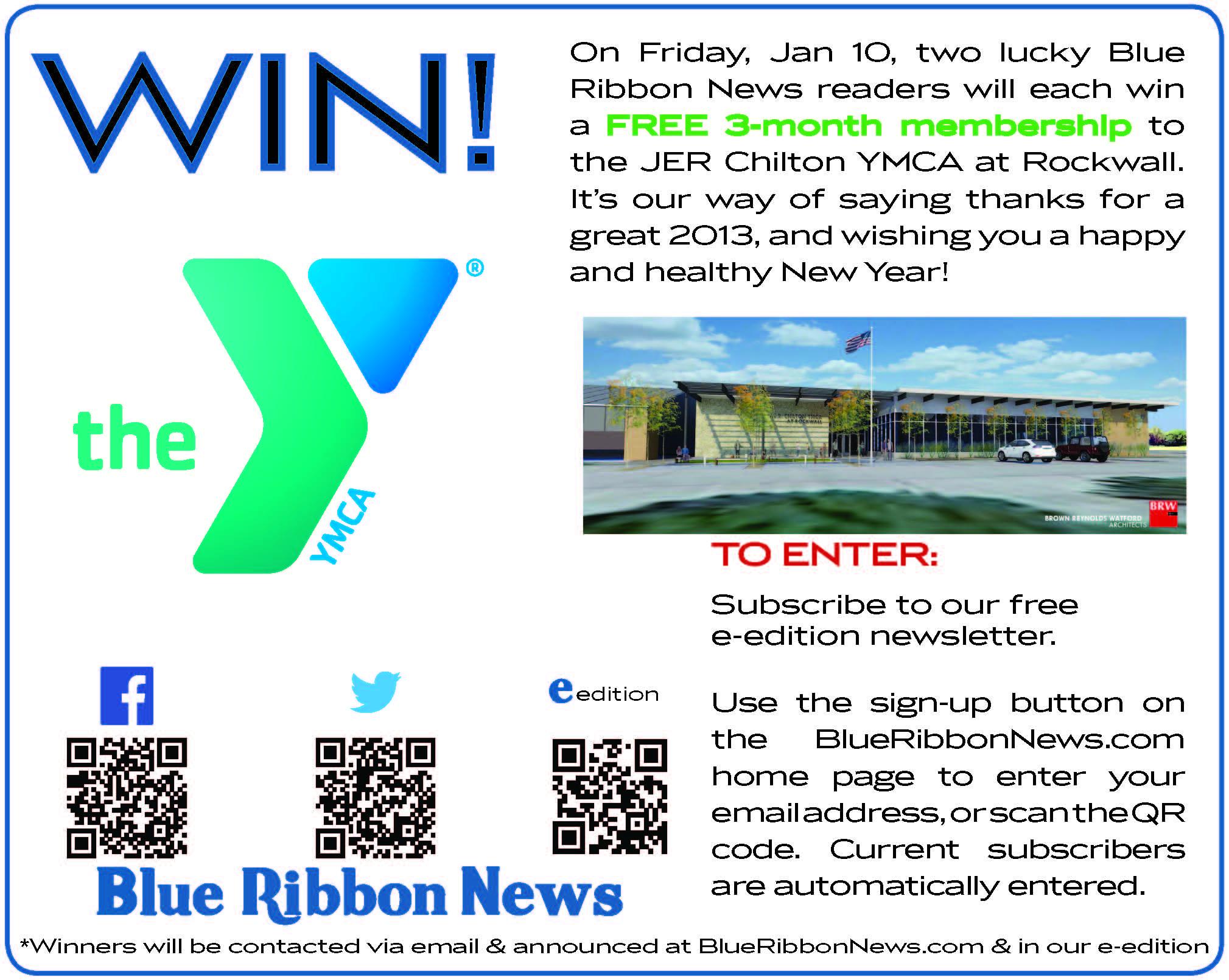 Winners announced in Rockwall YMCA membership giveaway
