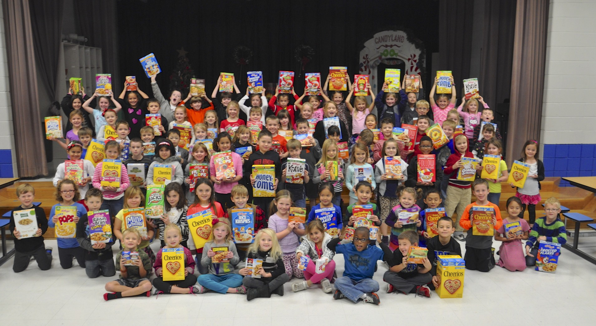 Amy Parks Heath first graders have big hearts