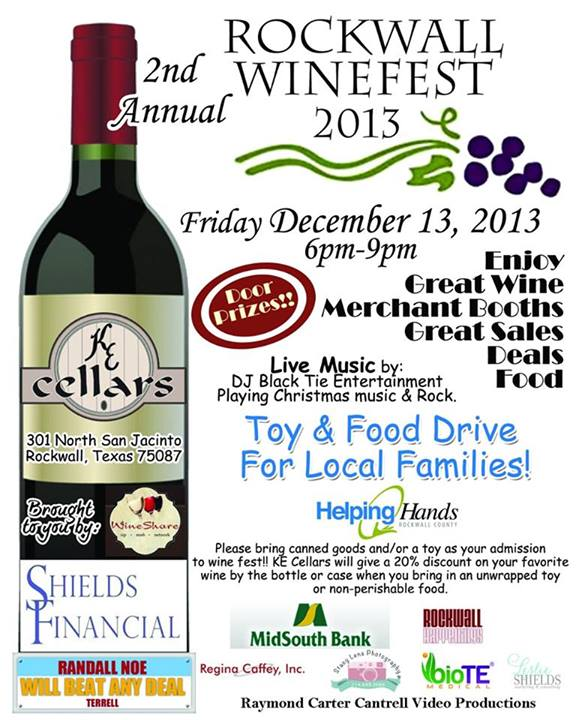 Rockwall Winefest 2013 set for Friday