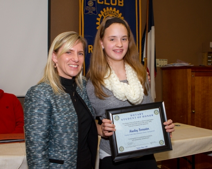 Rotary names Student of Honor from Pullen Elementary