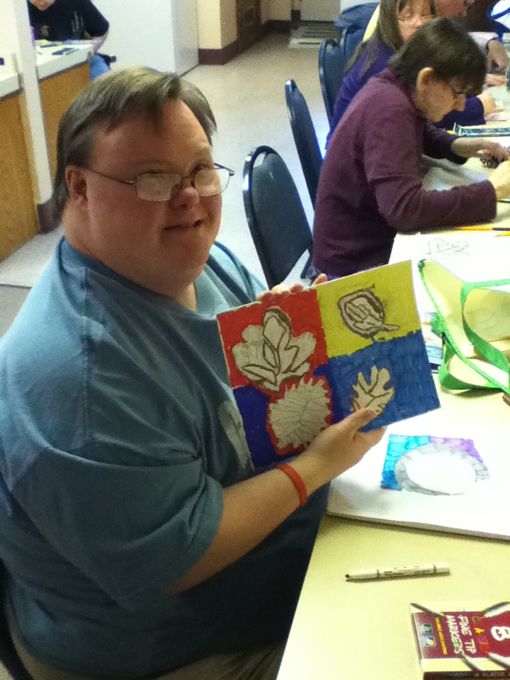 Art as therapy blue ribbon news for Craft ideas for disabled adults