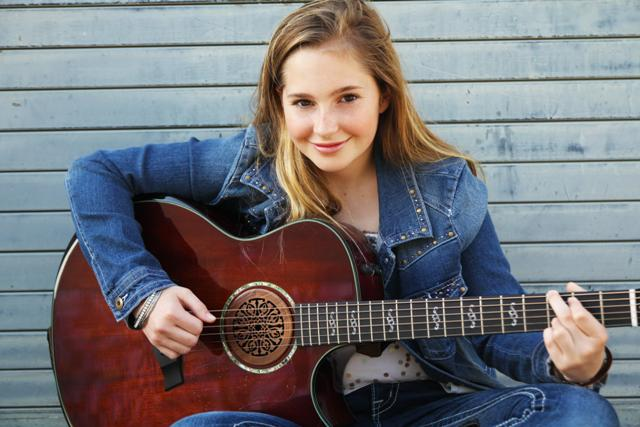 Local music artist Erin Kinsey performs at Night of Superstars